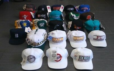 Nwt Vtg Lot Of 40 Sports Specialties,American Needle,Logo 7, New Era Snapbacks