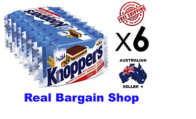 KNOPPERS 6x 8 Packs 48 Biscuits MADE IN GERMANY *AUSSIE SELLER*