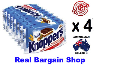 KNOPPERS 4x 8 Packs 32 Biscuits MADE IN GERMANY *AUSSIE SELLER*