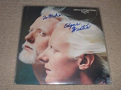 JOHNNY & EDGAR WINTER - Together Vinyl Record *Edgar Winter Signed* In-Person