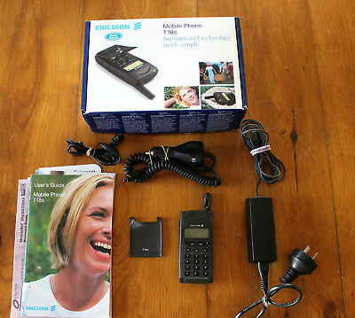 Vintage Ericsson Mobile phone T18s in Original Box with accessories