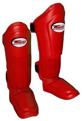 Twins Special Sgl-10 Red Shin Guards Size M