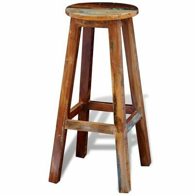 vidaXL Rustic Cottage Bar Stool Vintage Reclaimed Wood Kitchen Lounge Antique