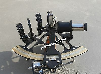 Nautical Brass Ship Working Sextant Maritime Vintage Navigational Solid Sextant.