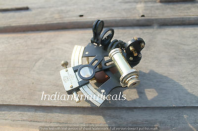 "Vintage Heavy Nautical Sextant 4"" In Powder Coating Marine Replica Instrument."