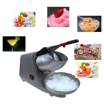 Professional Electric Crusher Ice Snow Shaver Machine Snow Cone Maker Icy Treat