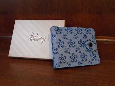 Vintage McCurdy's NOS blue floral vinyl snap wallet original box NEW never used