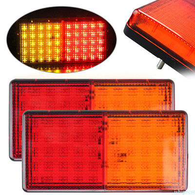 Led Tail Light Truck Caravan Trailer Stop Tail Indicator 12/24V 90X180Mm Pair Uk