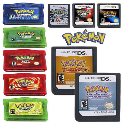 Pokemon HeartGold + SoulSilver/Diamond+Pearl+Platinum For Nintendo 3DS NDSi NDS