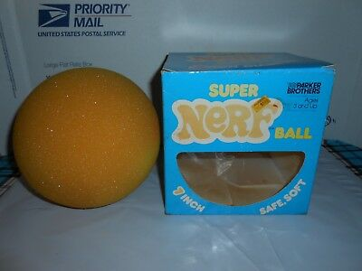 "Rare Vtg 1978 Parker Brothers Super Nerf Large 7"" Ball #195 W/ Original Box"
