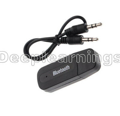 USB Bluetooth Receiver Adapter Wireless 3.5mm AUX Audio Stereo Music Home Car DP