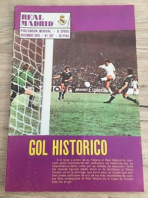 Magazine Official Real Madrid 5-1 Derby County 1975 1976 European Cup