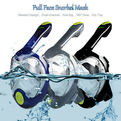 KUOKEL Full Face Diving Seaview Snorkel Snorkeling Mask Swimming Goggles f GoPro