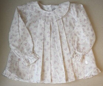 Baby Dior Cotton Enchanted Rose Blouse 18 Months