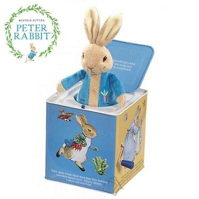 NEW Peter Rabbit Jack in the Box - Beatrix Potter Classic Wind-up Toy Kids