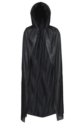 Halloween Cape With Hood Vampire Black Long Dracula Fancy Dress Costume Party