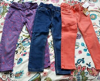 3 pairs of girls jeans age 4-5 years Next BNWT, blue denim co, sweet Millie
