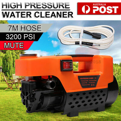 High Pressure Mute Water Cleaner 3200 PSI Washer Electric 7M Hose Gurney Pump AU