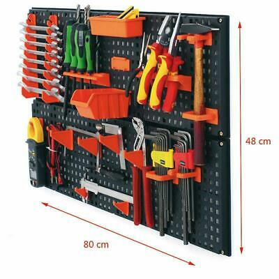 Tool board Wall Mounted Panels pegboard 80x48cm 21pcs Warehouse shelf Storage