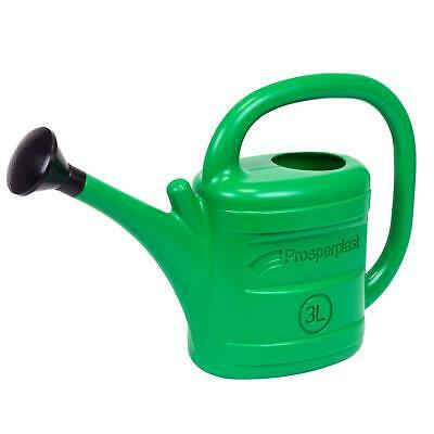 Garden Watering Can 3lt 0.65 gallon plastic with rose diffuser head 3 litre 3L