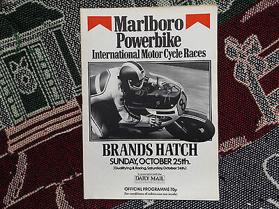 1981 Brands Hatch Programme 25/10/81 - Marlboro Powerbike International