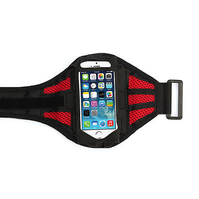 Red Premium Sports Mesh Running Armband Case Cover Holder For iPhone 6/6S/Plus