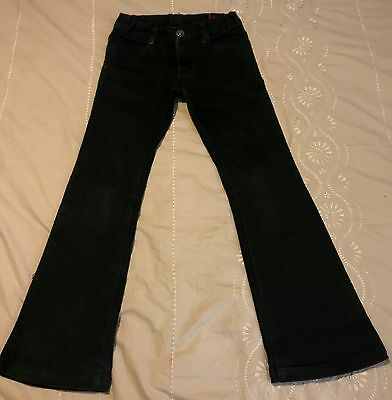 Girls Fred Bare Black Denim Jeans Flare Leg Size 6 Excellent Condition