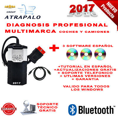 Maquina Diagnosis Bluetooth Multimarca 2017 + 3 Soft Coche Camion / Profesio