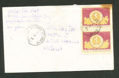 VIETNAM Cover 2d Anniversary Bulgaria joined pair + 1 on back with 1d Football