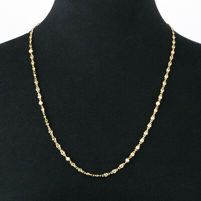 NEW Bowerhaus Pearl and Silver Stone Long Chain Gold Necklace