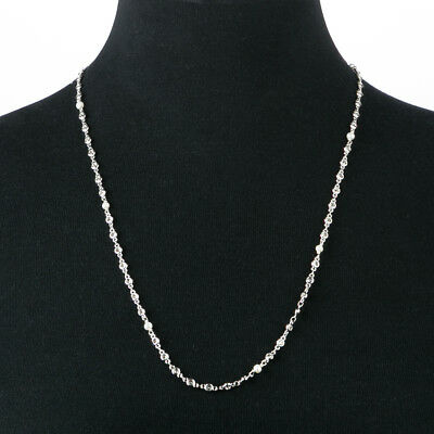 NEW Bowerhaus Pearl and Silver Stone Long Chain Silve Necklace