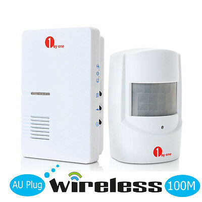 AC Doorbell Chime Wireless Home Driveway Detector Alarm System Infrared Sensor