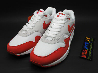 2017 Nike Air Max 1 Anniversary Og 30Th White University Red 908375-103 Nsw