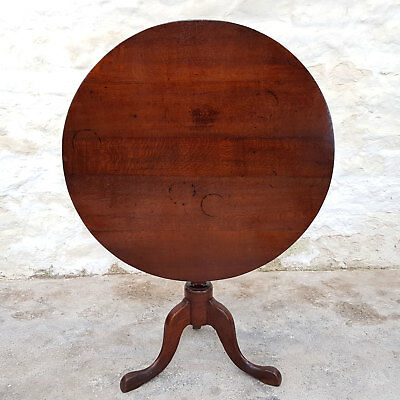 C18th Oak Tripod Tilt Top Supper Table (Georgian George III Antique)