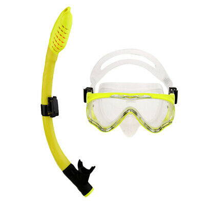 Children Kids Junior Scuba Silicone Goggles Mask Snorkel Set Swimming Diving