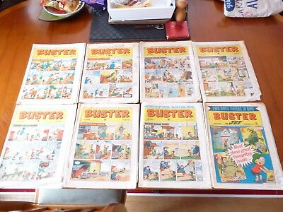 8 x BUSTER AND JET COMICS 1971 *POOR CONDITION PLEASE READ & SEE PICTURES*