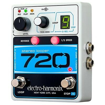 Electro-Harmonix  720 Stereo looper  with 10 Loops Guitar effects pedal