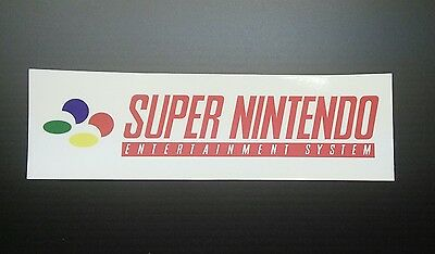 Super Nintendo SNES Logo Sticker Decal