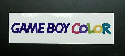 Gameboy Color Logo Sticker Decal