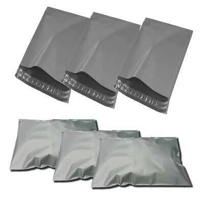 10 BAGS - 15 x 18 STRONG POLY MAILING POSTAGE POSTAL QUALITY SELF SEAL GREY