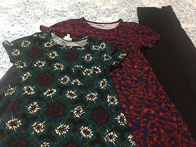 LuLaRoe Lot, XXS Carly x2 & L Maxi