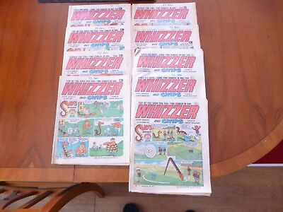9 x WHIZZER AND CHIPS COMICS 1972 *POOR CONDITION PLEASE READ & SEE PICTURES*