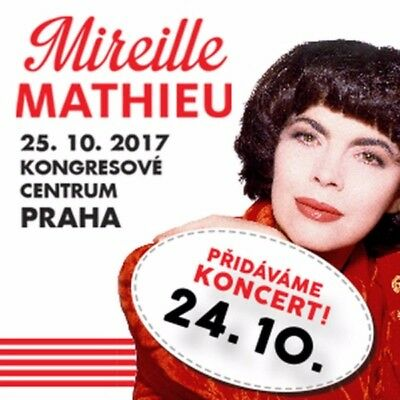 Mireille Mathieu 2VIP Tickets Prag/Praha/Prague 25.10.2017 *SOLD OUT CONCERT*