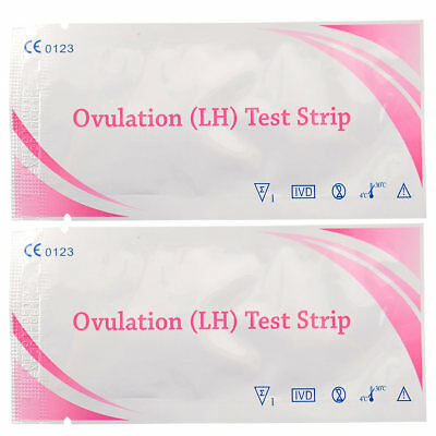 10pcs Ovulation Fertility Easy Test Strips Early Home Urine Test FP chart
