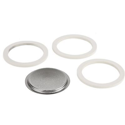 Bialetti Replacement Seals &  Filter Plate for 10 Cup VENUS, MUSA, KITTY & MIA