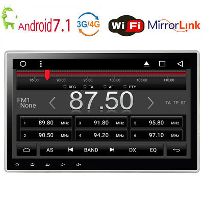 """2GB RAM 10.1"""" Car Android 7.1 Stereo Radio 2DIN GPS DVD Player 4-Core 32GB ROM"""
