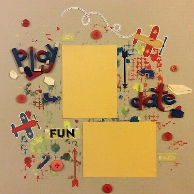 handmade scrapbook page 12 X 12 Play Date Themed Layout