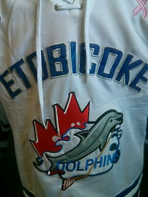 Etobicoke Dolphins Game worn Breast cancer patched jersey PWHL CWHL NWHL