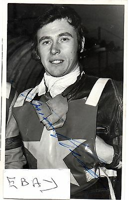 Signed Speedway Photo. Trevor Hedge (Wimbledon)