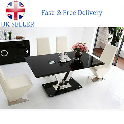 Panana High Metal and Glass Dining Table Only Kitchen Bistro UK